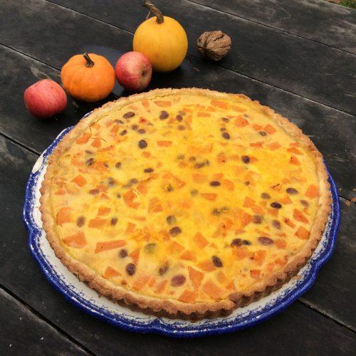 Le jardin de Gribouille - tarte au potiron et raisins secs