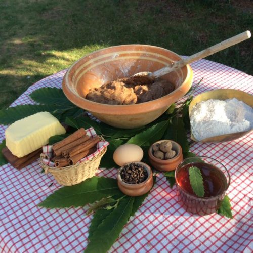 Le jardin de Gribouille -   Ingrédients : épices de la joie, beurre, farine d'épeautre...